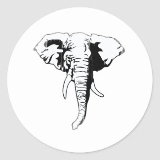 REPUBLICAN ELEPHANT Faded.png Round Stickers