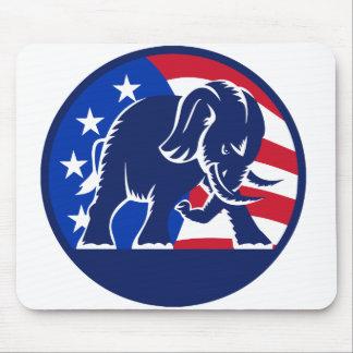 Republican Elephant Flag Mouse Pads