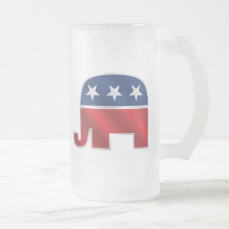 Republican Elephant Glass Mug