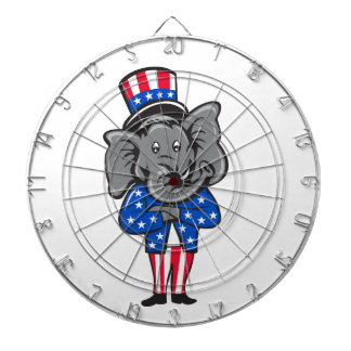 Republican Elephant Mascot Arms Crossed Standing C Dartboard