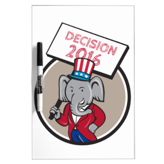 Republican Elephant Mascot Decision 2016 Circle Ca Dry Erase Board