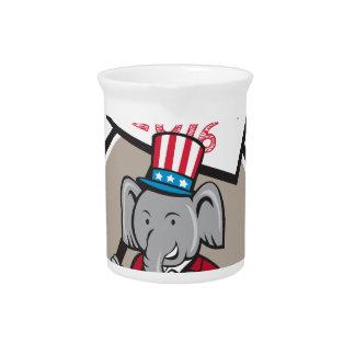 Republican Elephant Mascot Decision 2016 Circle Ca Pitcher