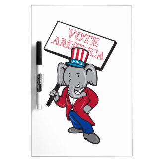 Republican Elephant Mascot Vote America Cartoon Dry-Erase Boards