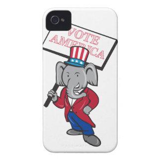 Republican Elephant Mascot Vote America Cartoon iPhone 4 Case-Mate Case