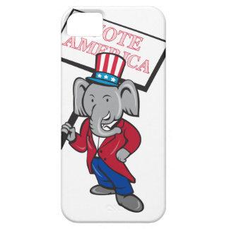 Republican Elephant Mascot Vote America Cartoon iPhone 5 Cases
