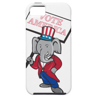 Republican Elephant Mascot Vote America Cartoon Tough iPhone 5 Case