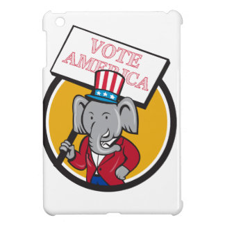 Republican Elephant Mascot Vote America Circle Car iPad Mini Cases