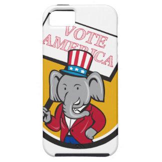 Republican Elephant Mascot Vote America Circle Car iPhone 5 Covers