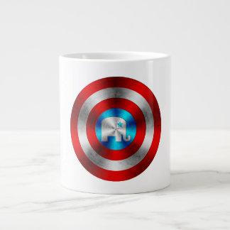 Republican Elephant Metal Shield Giant Coffee Mug