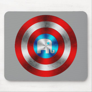 Republican Elephant Metal Shield Mouse Pad