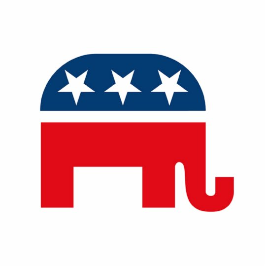 Republican Elephant Standing Photo Sculpture