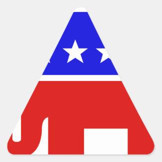 Republican Elephant Symbol Triangle Sticker