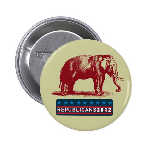 Republican Elephant Tea Party 2012 Campaign Button