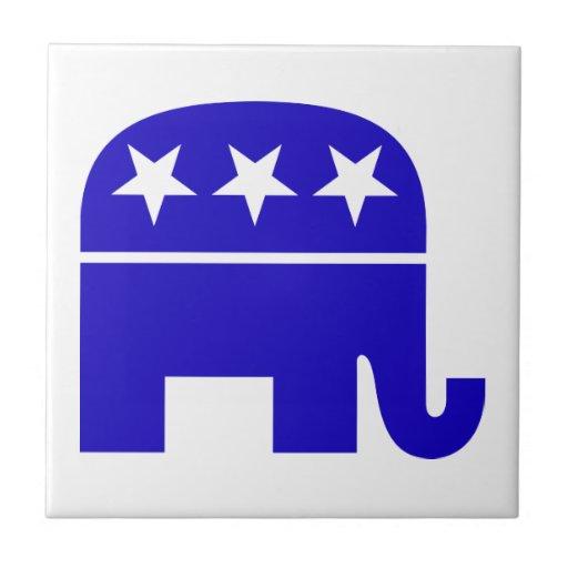 Republican Elephant Tile