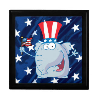 republican elephant tophat giftbox gift box
