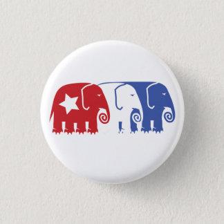 Republican Elephants 3 Cm Round Badge