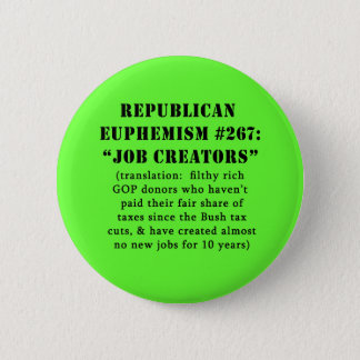 Republican Euphemism Job Creators JOKE 6 Cm Round Badge
