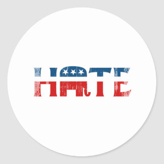 REPUBLICAN HATE Faded.png Round Sticker
