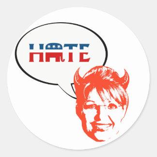 REPUBLICAN HATE ROUND STICKERS