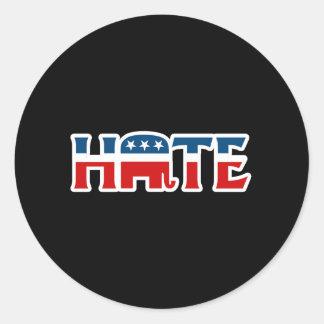 Republican Hater Round Stickers