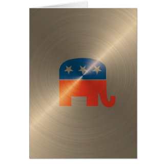 Republican Logo In Gold Greeting Card
