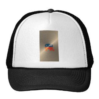 Republican Logo In Gold Hat