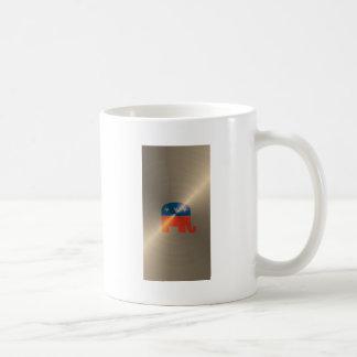 Republican Logo In Gold Coffee Mugs