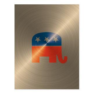 Republican Logo In Gold Postcard