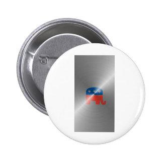 Republican Logo In Steel Buttons