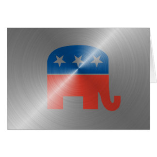 Republican Logo In Steel Greeting Card