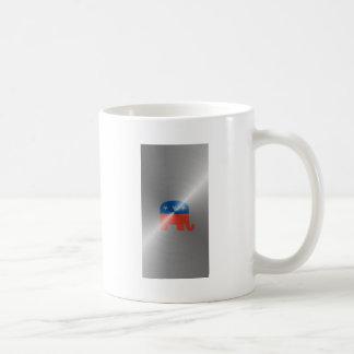 Republican Logo In Steel Coffee Mugs