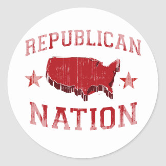 REPUBLICAN NATION Faded.png Sticker
