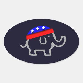 Republican Oval Sticker