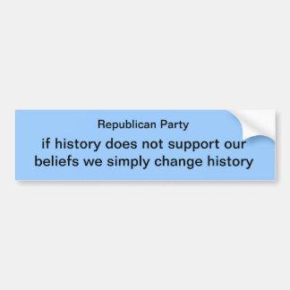 republican party bumper sticker
