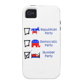 Republican Party, Democratic Party, Slumber Party iPhone 4 Cover