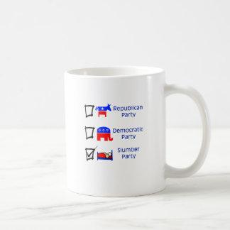 Republican Party, Democratic Party, Slumber Party Coffee Mug