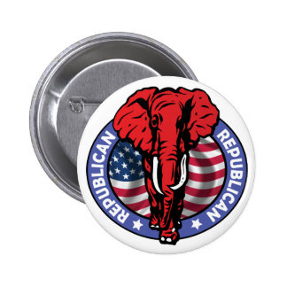 Republican Party Elephant - McCain 6 Cm Round Badge