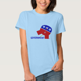Republican Party Elephant Pissing On Government T Shirt