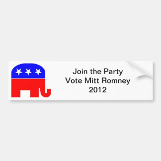 Republican Party Support Decal Bumper Sticker