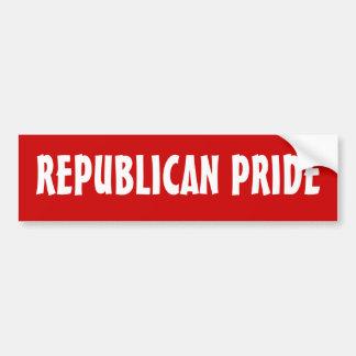 REPUBLICAN PRIDE - bumper sticker