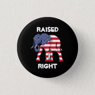 REPUBLICAN, RAISED RIGHT ELEPHANT PIN