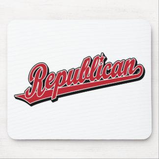Republican Script Logo Deluxe Red Mousepads