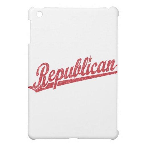 Republican Script Logo Distressed Cover For The iPad Mini