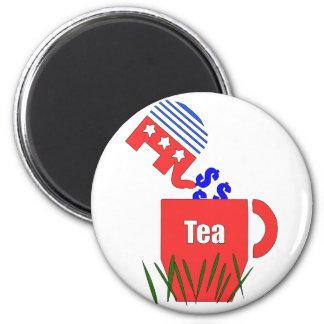 Republican Tea 6 Cm Round Magnet