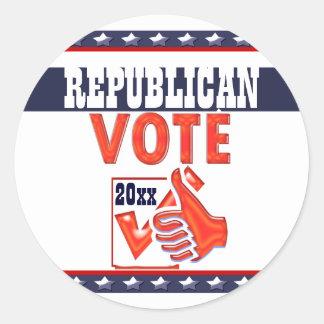 Republican vote President 20xx CUSTOMIZE Round Sticker