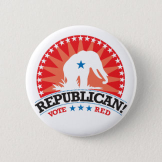 Republican! Vote Red! 6 Cm Round Badge