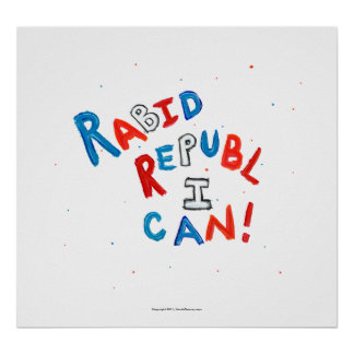 Republican voter rabid supporter fun word art poster