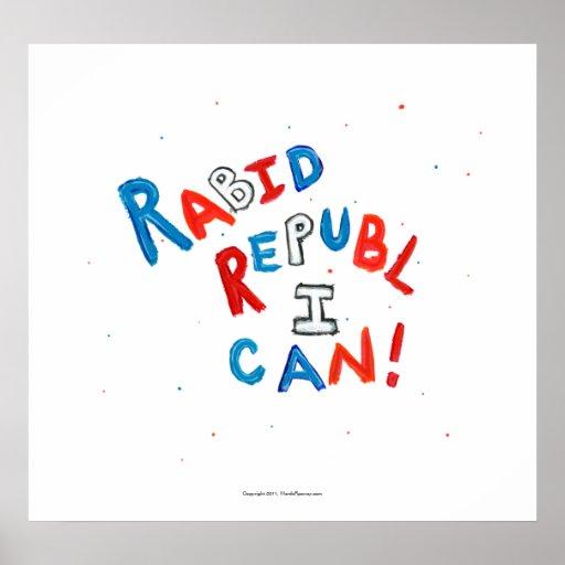 Republican voter rabid supporter fun word art poster