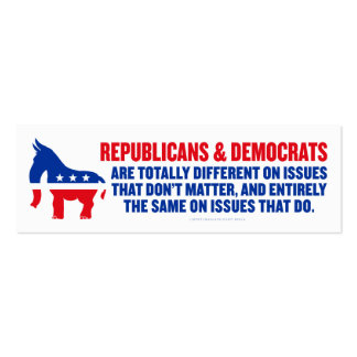 Republicans and Democrats Cards Business Card Template