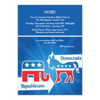 Republicans and Democrats Election Party Invitatio 13 Cm X 18 Cm Invitation Card